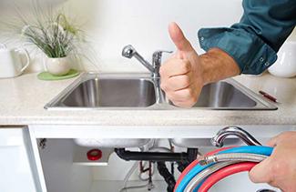 plumbing installation sink